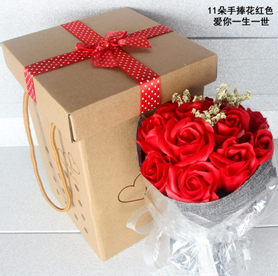 Special Romantic Birthday Gift Girl Girlfriend Practical SOAP Flower Rose Bouquet Flowers