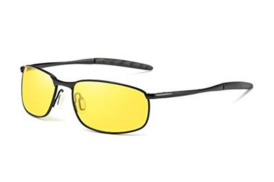 e50056373c6 SPEEDM Rectangular Sunglasses For Men With Metal Frame Polarized Retro  Square Sunglasses Ultra Light