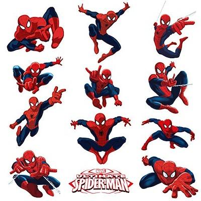 Qoo10 Spiderman Stickers Pack Of 12 For Kids Room Peel