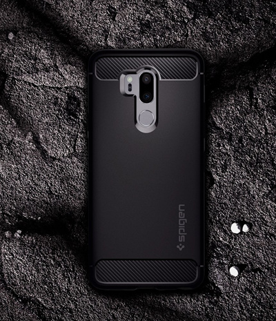 cheaper d01ac 67a7d [ SPIGEN]Spigen Rugged Armor LG G7/G7 ThinQ Case with Flexible and Durable  Shock Absorption with Carbon Fiber