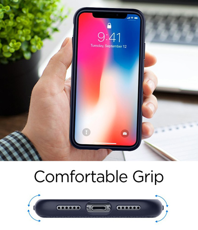 new products 98e5e 2fdd7 SPIGENSpigen Liquid Air Armor iPhone X/XS Case with Durable Flex and Easy  Grip Design for Apple iPhone X