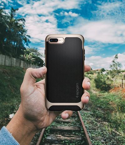 more photos ef0f8 5a04d Qoo10 - Spigen Neo Hybrid Herringbone iPhone 8 Plus Case with ...