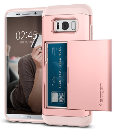 quality design 29751 bcc7f SPIGENSpigen Slim Armor CS Galaxy S8 Plus Case with Slim Dual Layer Wallet  Design and Card Slot Holder