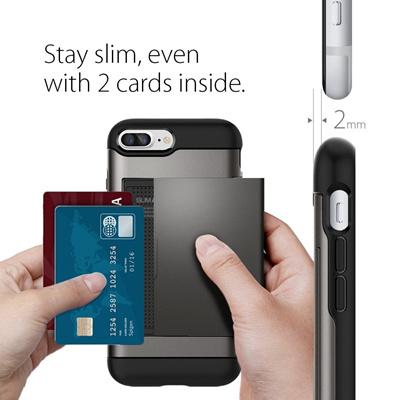 iphone 8 plus case spigen wallet