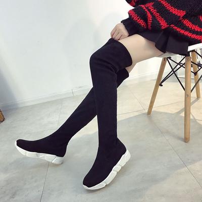 Qoo10 - Sports socks shoes in autumn increase long tube knitted socks boots  hi...   Sportswear 8466fe3892