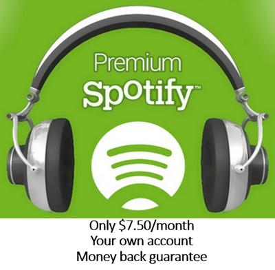 Lifetime Warranty Worldwide Music Beautiful Spotify Premium X10 Account Subscription X1