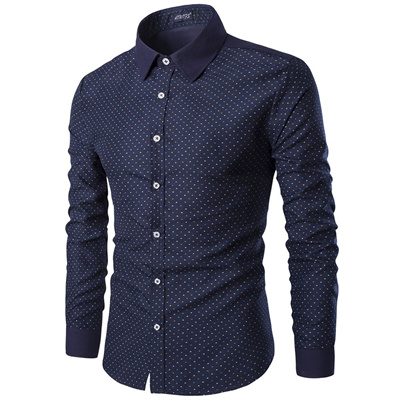 59f0c56e8b Qoo10 - Spring And Autumn MenS Long Sleeve Shirt Printed MenS Shirt  B2-11-Y512   Men s Apparel