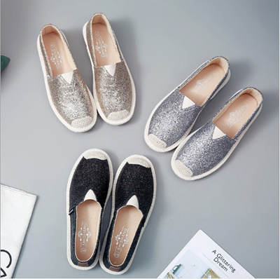 95c6430aab95 Qoo10 - Spring New Women Sequin Cloth Shoes For Woman Platform Loafers  Ladies ...   Women s Clothing