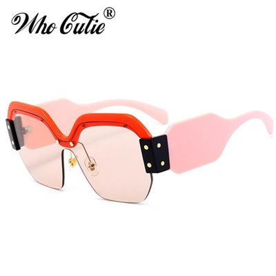 146cc5ce6a Qoo10 - Square Half Frame Sunglasses Women Brand Designer 2018 Luxury  Polygon ...   Men s Apparel