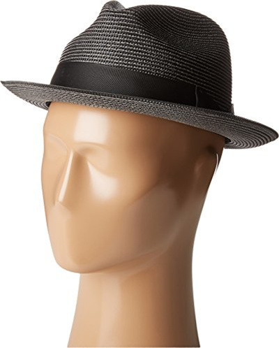 5e06f11cd Stacy Adams Mens Pinch Front Braid Fedora Black Hat