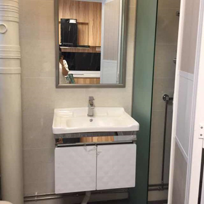 Stainless Steel Bathroom Cabinet C W Basin And Mirror