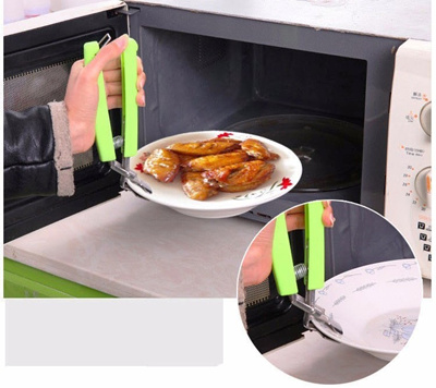 Stainless Steel Bowl Clamp Microwave Dish Holder Hot