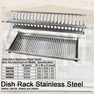 Stainless Steel Cabinet Kitchen Double Layer Dish Rack / Anti Rust / Drain  Plate   4