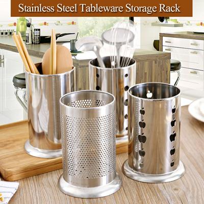 Stainless Steel Kitchen Drain Tableware Storage Racks Cutlery Chopsticks Spoon Fork Stationery Cosme