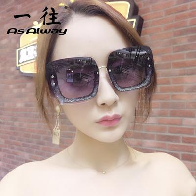 4772c4c2f3 Qoo10 - Star sunglasses 2017 girl big red box NET Zhou Yangqing sunglasses  boo...   Fashion Accessor.