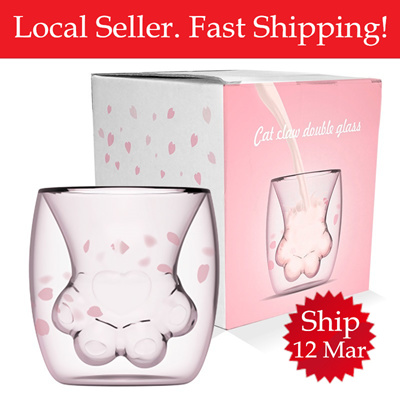 Sakura Foot Cup Mug Glass Starbucks Cat Paw tCdBxshQr