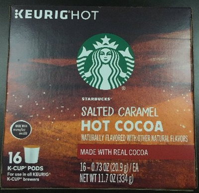 Starbucks Salted Caramel Hot Cocoa Keurig K Cups 16 Count