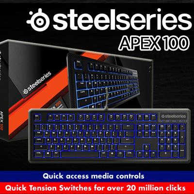 Qoo10 steelseries keyboard computer game steelseries apex 100 us keyboard 1 year warranty fandeluxe Image collections