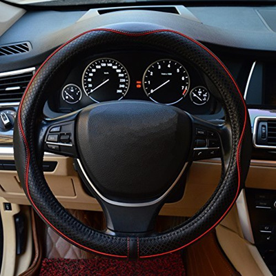 Steering Wheels Covers Gomass Car Handle Cover Leather Steering Wheel Cover For Car Truck Suv