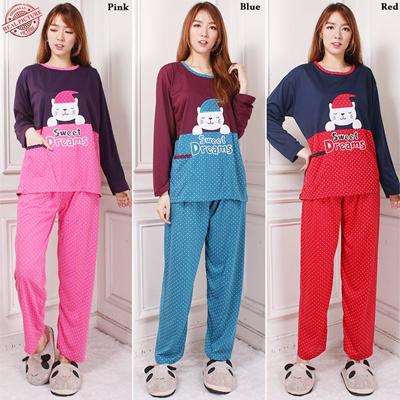 Stelan Baju Tidur Ghina Atasan Piyama Jumbo Dan Celana Panjang Jumbo Wanita 6207f54866