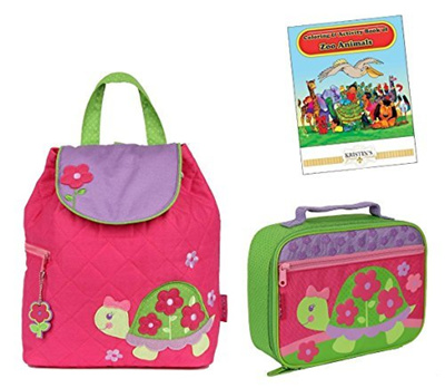 45cf068c498a Stephen Joseph Quilted Backpack, Lunch Box, and Coloring Book Set