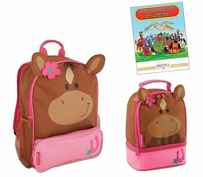 8b371f6e1277 Stephen+Joseph Stephen Joseph Sidekicks Backpack and Lunch Pals School Bag  Set