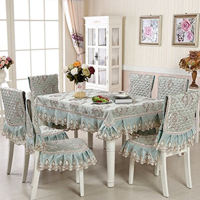 (STGHGN) Chinese Table Cloth Chair Covers Set Rectangle Dining Chair  Cushion Set/