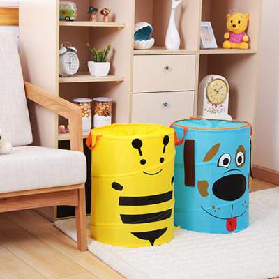 Qoo10 Storage Basket Childrens Toy Bag Barrel Box Mouth Retrac Furniture Deco