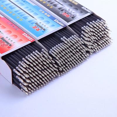 100Pcs Ballpoint Pen Refill Black Blue Red Stationery School Office Supply 0.7mm