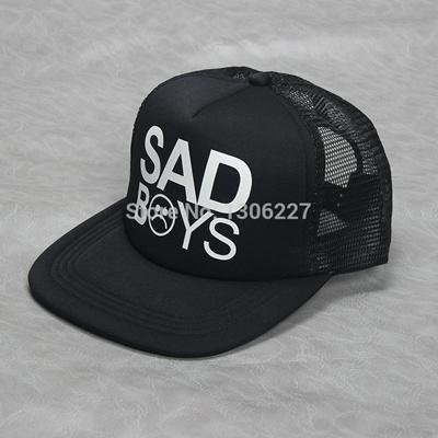 7370f9b93da ... dopepremium 0671d a3c72  official store fashion sad boys print trucker  cap men baseball hat bone gorras women sun hat