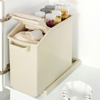[Story G] Sink In Sliding Rice Container 25kg Multi Storage Rice Dispenser  Rice Bucket