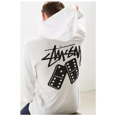 [Stussy] domino hooded t-shirt [CA65] ship from korea high quality