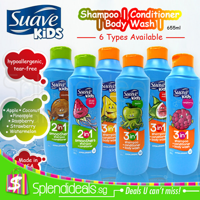 Suave Kids(OFFER) SUAVE KIDS 2in1 / 3in1 Shampoo + Conditioner + Body Wash  665ml - 6 Types (USA)