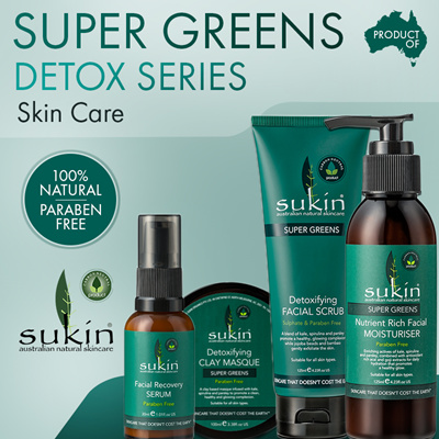 [SUKIN] SUPER GREENS Nutrient Rich Facial Moisturizer | Detox Facial Scrub and Facial Masque
