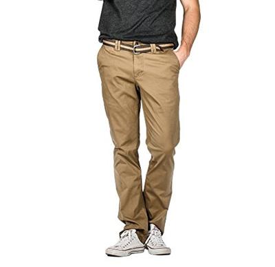 f15b59b356 Qoo10 - Suko Jeans Suko Mens Straight Fit Casual Twill Pants With Belt    Fashion Accessories