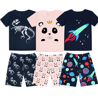 f25215db874 Qoo10 - Summer 2018 Children s Pajamas Sets Cotton Baby Girls Short Sleeved  Ca...   Kids Fashion