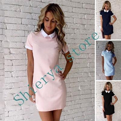 b6f6a213d51f6 Qoo10 - Summer Fashion Women Short Sleeve Office Bodycon Evening Party  Cocktai... : Women's Clothing