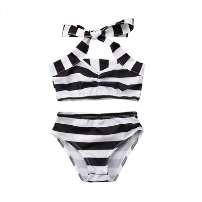 99d292329f99e Summer Girls Bikini Set Newborn Kids Baby Girl Stripe Two Pieces Swimwear  Biquinis Swimsuit Bathing