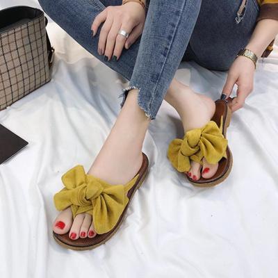 70a735841 Qoo10 - Summer Hot Sale Women Flip Flops Fashion Solid Color Bow tie Flat  Heel...   Shoes
