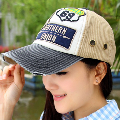 43f19e6253c Summer Korean patch pattern Hat Chao men and women couples baseball cap  casual Sun duck tongue