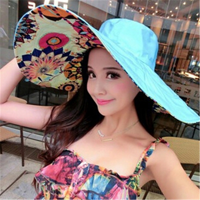 Qoo10 - Summer large brim beach sun hats for women UV protection hat women  wit...   Small Appliances 22561c34765