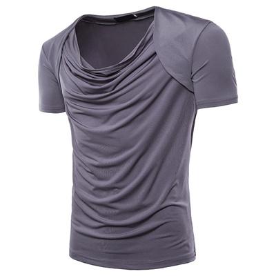 72cfb7ffb48 Qoo10 - Summer MenS T-Shirt Solid Color Body Design Raglan Sleeves Fake  Two-Pi...   Men s Apparel