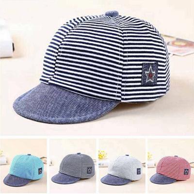 fd3947ef39c Summer Newborn Baby Girls Boy Princess Infant Sun Cap Cotton Beret Hat  Striped