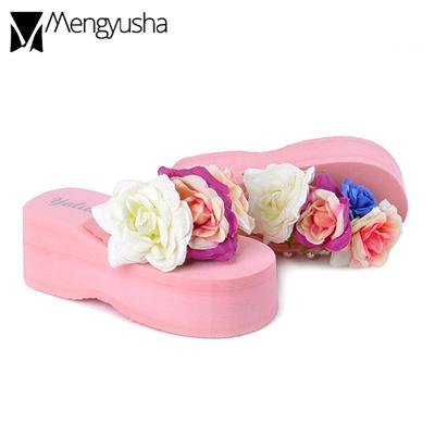 ace892a4b Qoo10 - summer pearl flipflops women colorful big flower beach sandals  ladies ...   Shoes