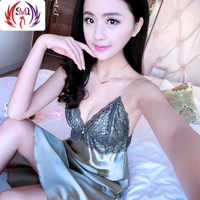Qoo10 - Summer sexy Silk Pajamas Women seduce cute little straps silk  nightdre...   Underwear   Sock. 76f980b28
