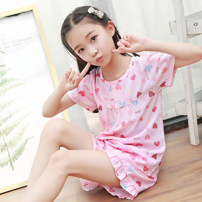 Qoo10 - Summer short sleeve girl children 绵绸 pajamas Thin baby vest mother  wom...   Women s Clothing 1c189ad5f