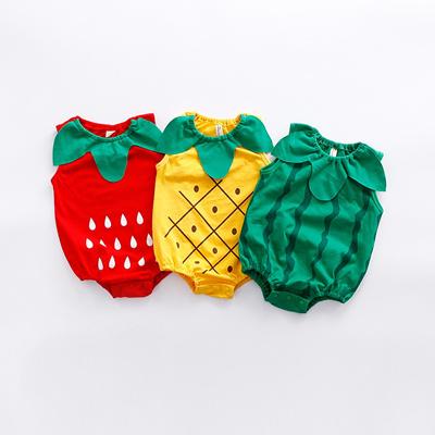 e7ed08229fad Qoo10 - Summer Sleeveless Baby Rompers Fruit Shaped Baby Clothes Infant Boy  Gi...   Baby   Maternity