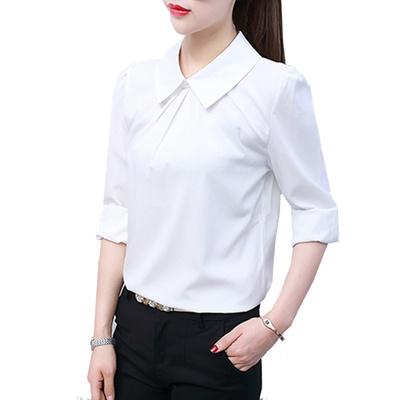 2e75a49b Qoo10 - Summer Style Women Office Work Wear Chiffon Blouses Shirt Lady  Girsl L... : Women's Clothing