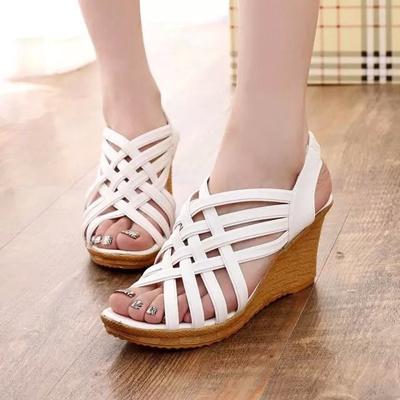 941e6e213f6b Qoo10 - Summer styles fish female wedges platform Sandals flat heel platform  p...   Men s Bags   Sho.