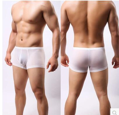 Silk boxer briefs for men sexy